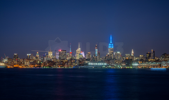 Midtown NYC Nighttime Skyline